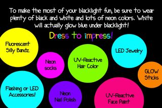 Bright Ideas For A Blacklight Glow Party The Best Blog Entry On