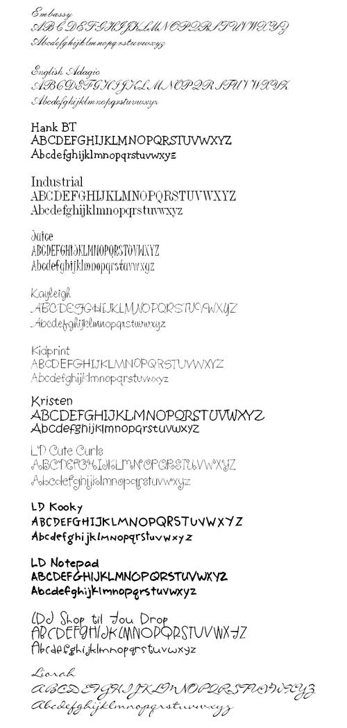 Fonts4b